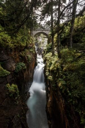 Wasserfall an der Pont d'Espagne in den Pyrenäen