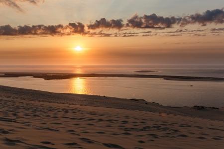 Sonnenuntergang an der Dune du Pilat am Atlantik