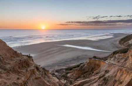Sonnenuntergang am Baylys Beach