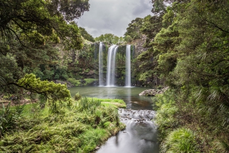 Langzeitbelichtung der Whangarei Falls