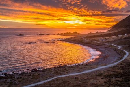 Sonnenuntergang am Cape Palliser