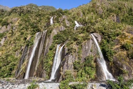 Wasserfälle am Franz Josef Glacier