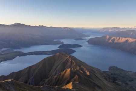 Sonnenuntergang am Roy's Peak über dem Lake Wanaka