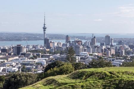 Skyline von Auckland von Mount Eden betrachtet