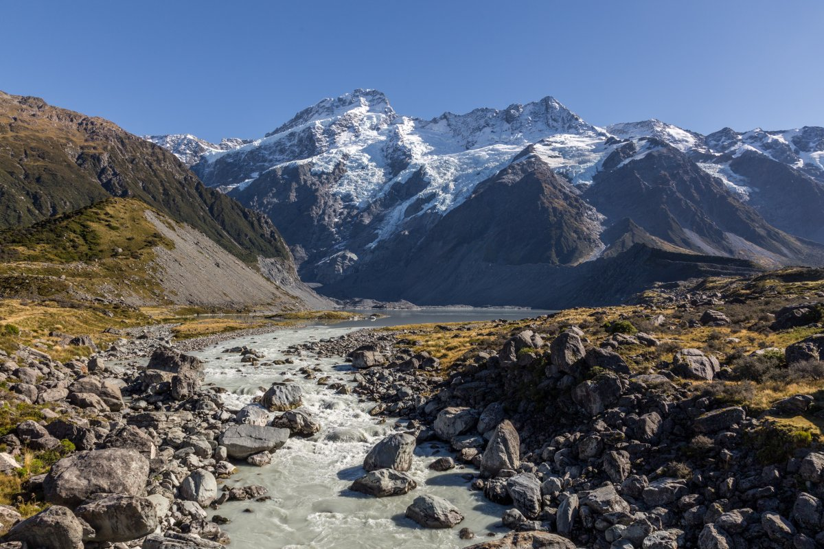 Fluss im Hooker Valley