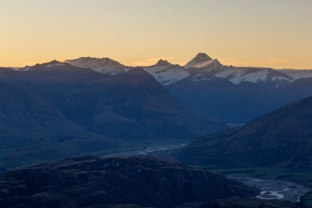 Blick vom Mount Roy auf den Mount Aspiring National Park