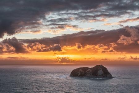 Sonnenaufgang am East Cape in Neuseeland