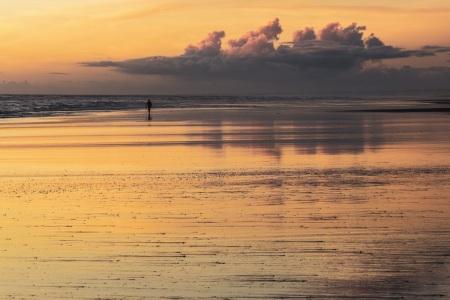 Sonnenuntergang in Koitiata (Neuseeland)
