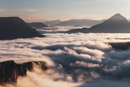 Sonnenaufgang über den Gorges du Verdon mit Nebelmeer