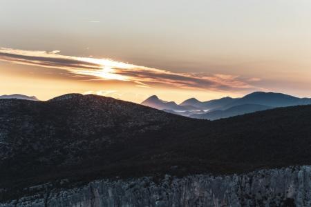 Sonnenaufgang über den Gorges du Verdon