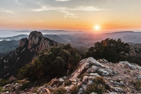 Sonnenuntergang am Pic du Cap Roux im Massif de l'Esterel