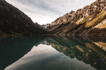 Sonnenaufgang am Lac de Gaube
