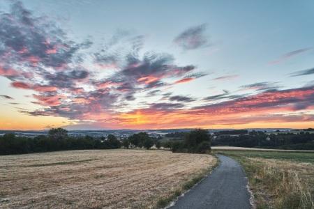 Sonnenuntergang in Riegelsberg im Saarland