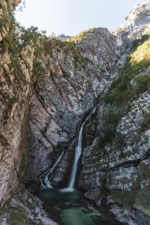 Savica-Wasserfall (Slap Savica) oberhalb des Bohinjsees
