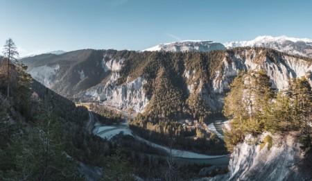 Rheinschlucht in Graubünden