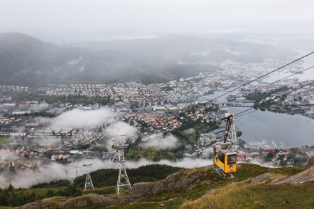 Seilbahn Ulriken in Bergen (Norwegen)