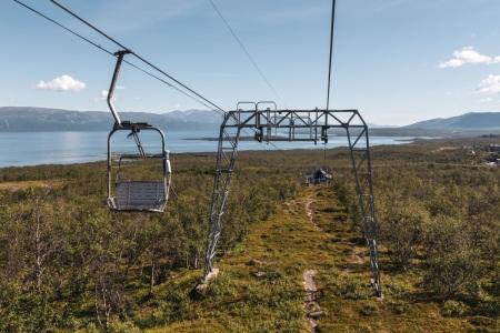 Historische Sesselbahn Nuolja in Abisko, Nordschweden