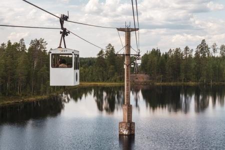Seilbahn Norsjö in Schweden
