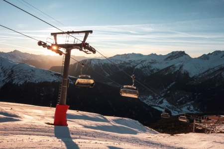Sonnenuntergang am Jakobshorn in Davos