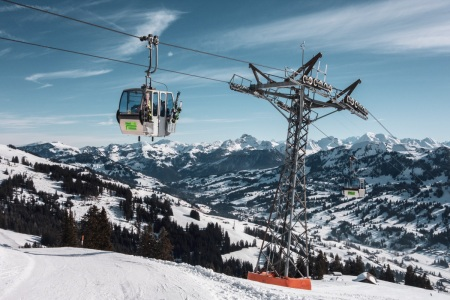 Kurven-Seilbahn Rellerli in Schönried - Gstaad