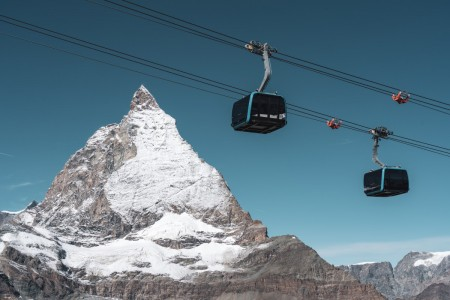 Seilbahn zum Klein Matterhorn in Zermatt