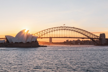 Sonnenuntergang am Sydney Opera House