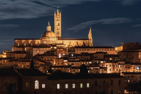 Siena bei Nacht