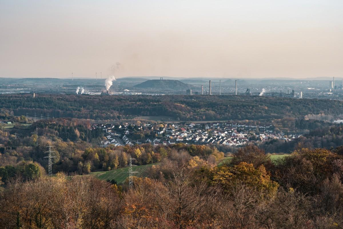 Panorama auf das Saartal bei Beckingen