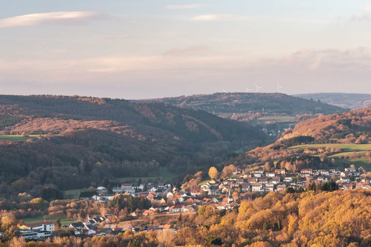 Panoramablick auf Primstal