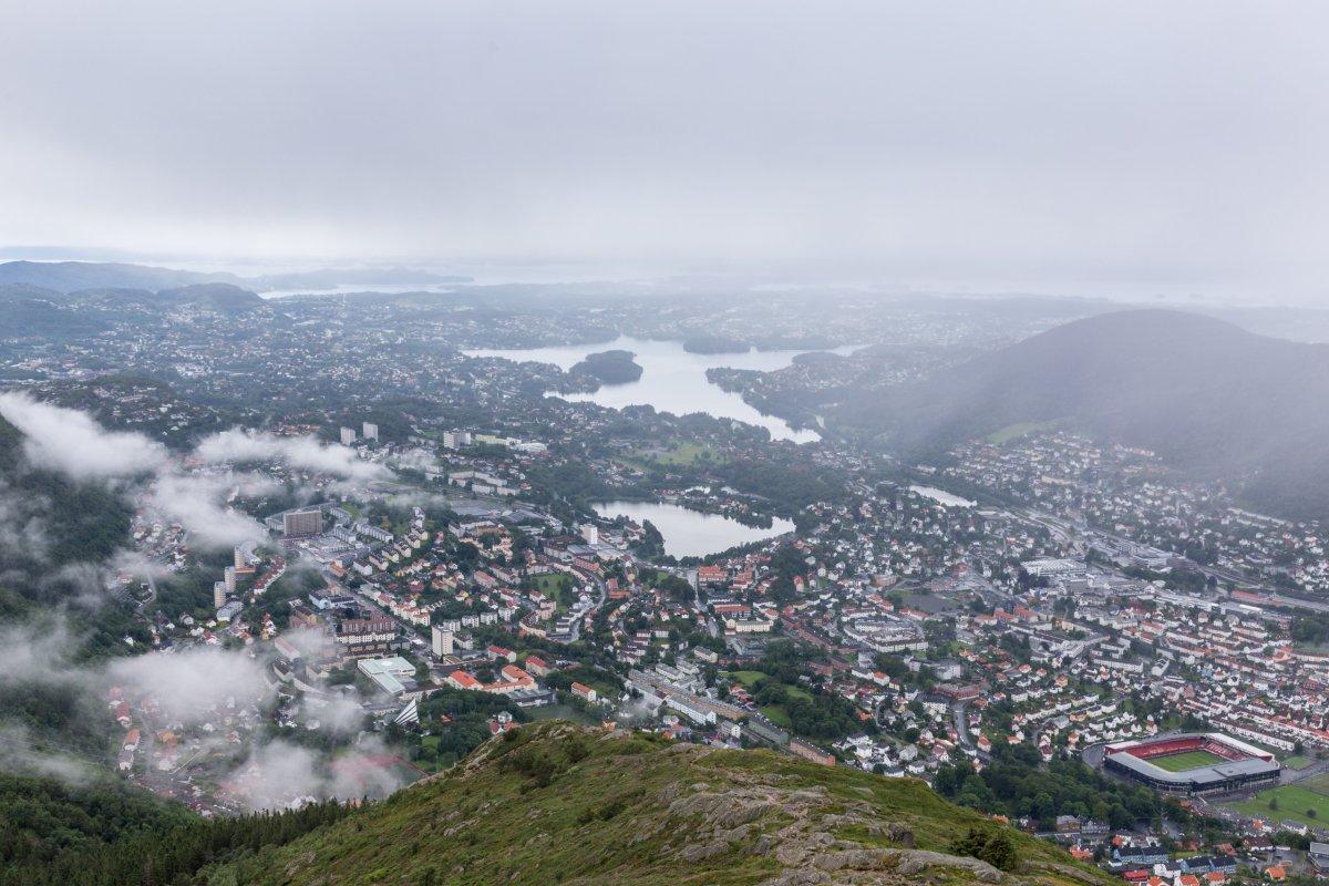 Ausblick vom Ulriken auf Bergen