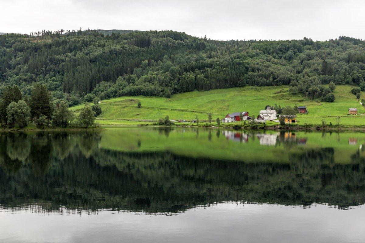 Norwegische Landschaft nördlich von Bergen