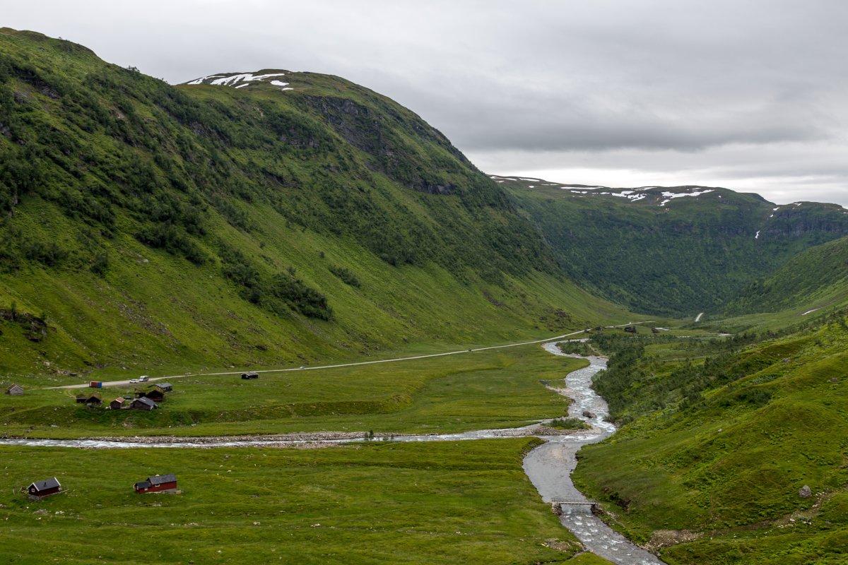Straße zum Vikafjellet