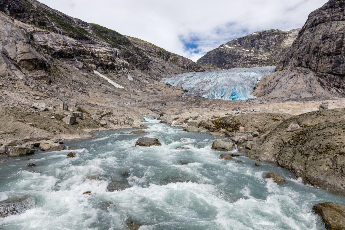Gletscherwasser am Nigardsbreen