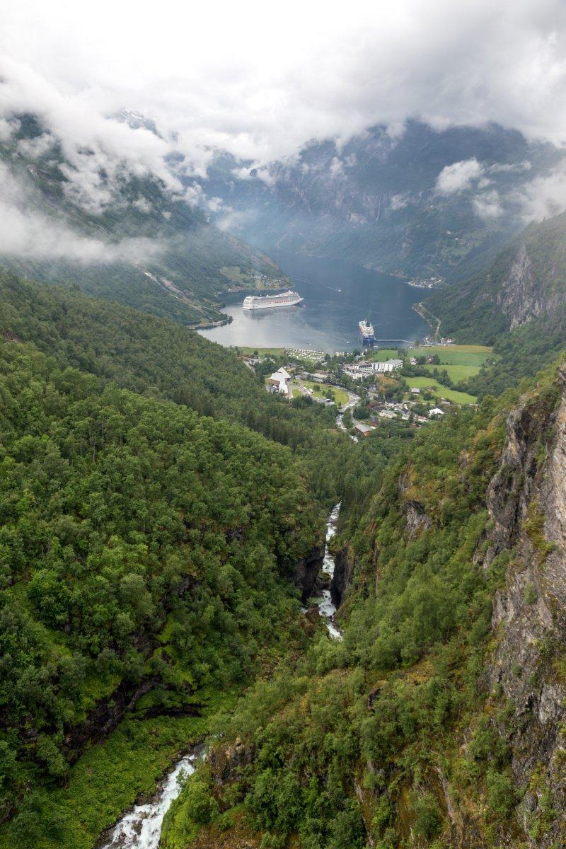Geiranger Fjord von Flydalsjuvet
