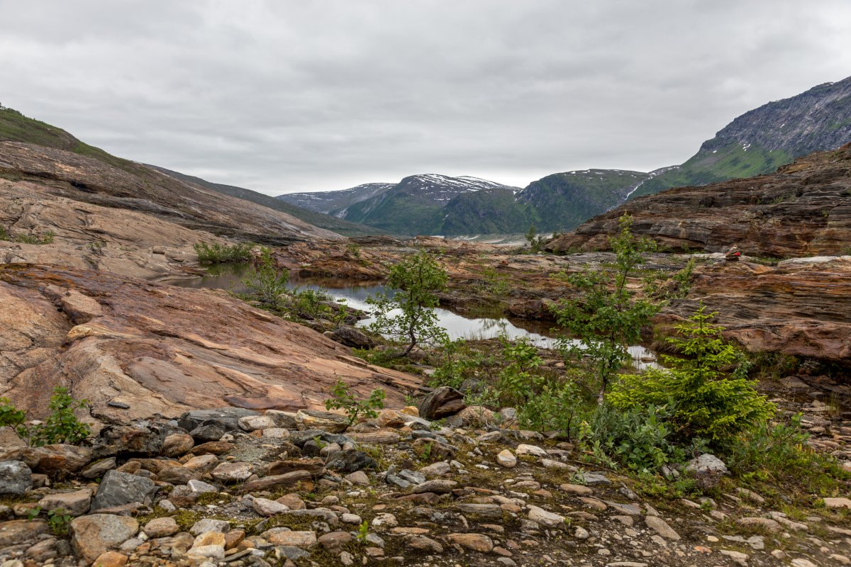 Wanderung zum Svartisen-Gletscher