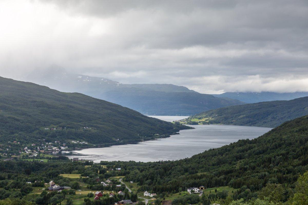 Norwegische Landschaft bei Ballangen