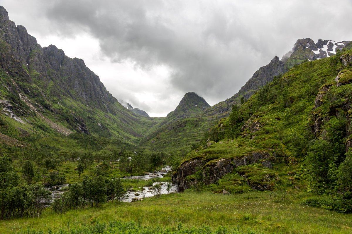 Landschaft auf den nördlichen Lofoten