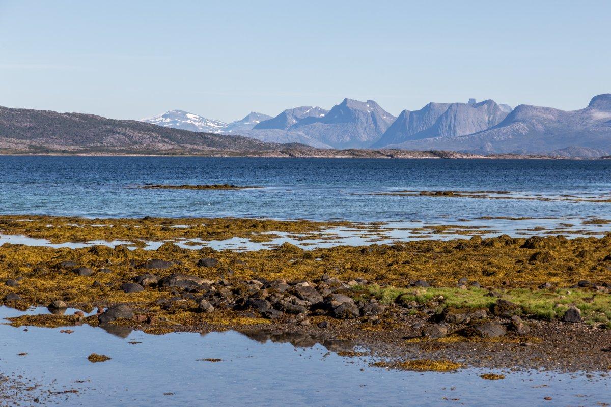 Landschaft bei Vestpollen auf den Lofoten