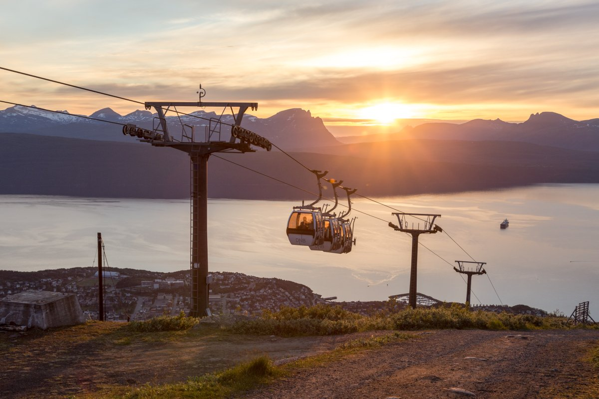 Mitternachtssonne auf dem Narvikfjellet