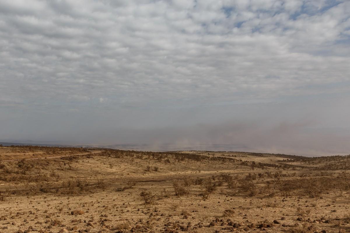 Weg vom Ngorongoro-Krater in die Serengeti