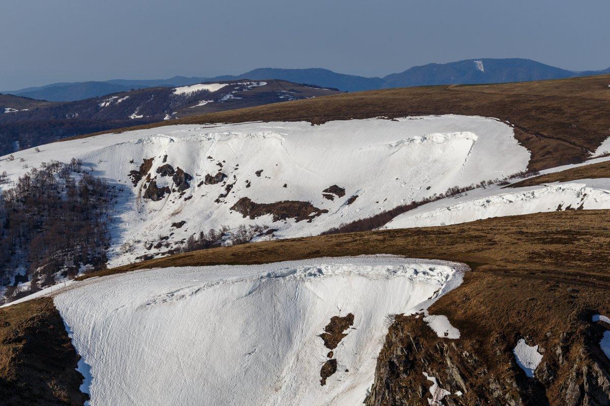 Restschneefelder am Hohneck