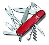 Victorinox Taschenmesser Mountaineer (18 Funktionen, Schere, Metallsäge mit Feile) rot
