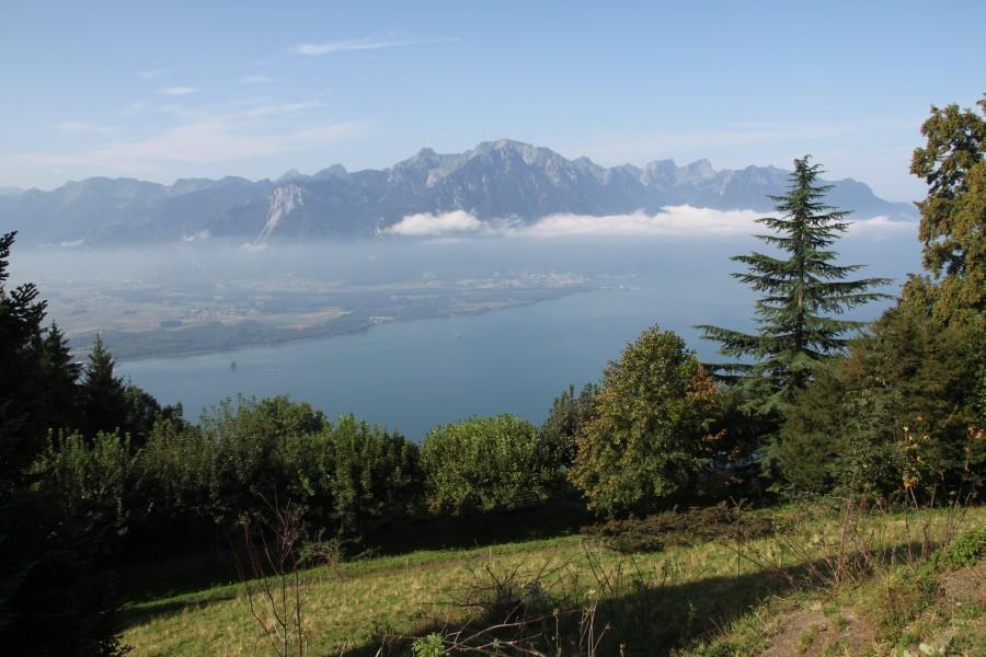 Rochers de Naye und Les Pléiades mit Genfersee-Blick