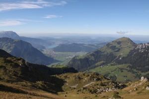 Ausblick vom Haldigrat Richtung Luzern