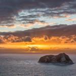 Malerischer Sonnenaufgang am East Cape an der Pazifikküste