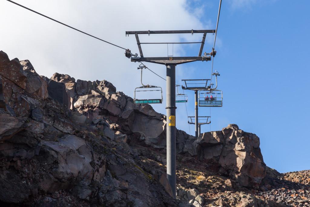 Die Sesselbahn Waterfall führt zum höchsten Café Neuseelands