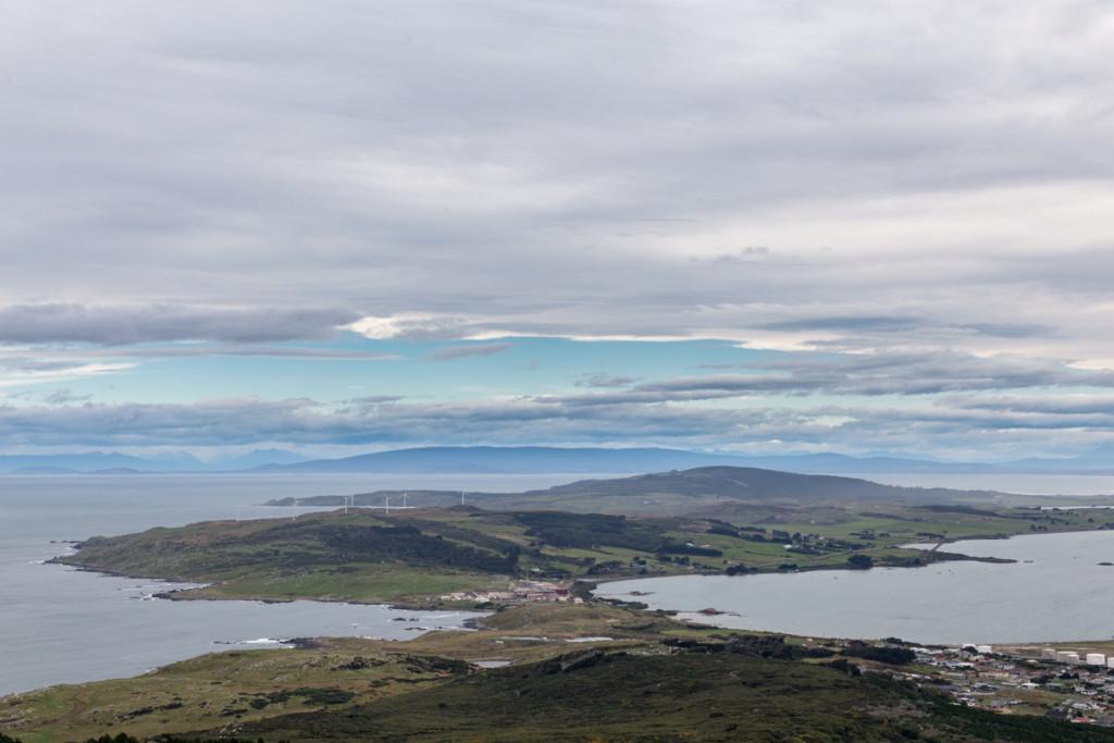 Aussicht vom Bluff Hill auf die Stewart Island