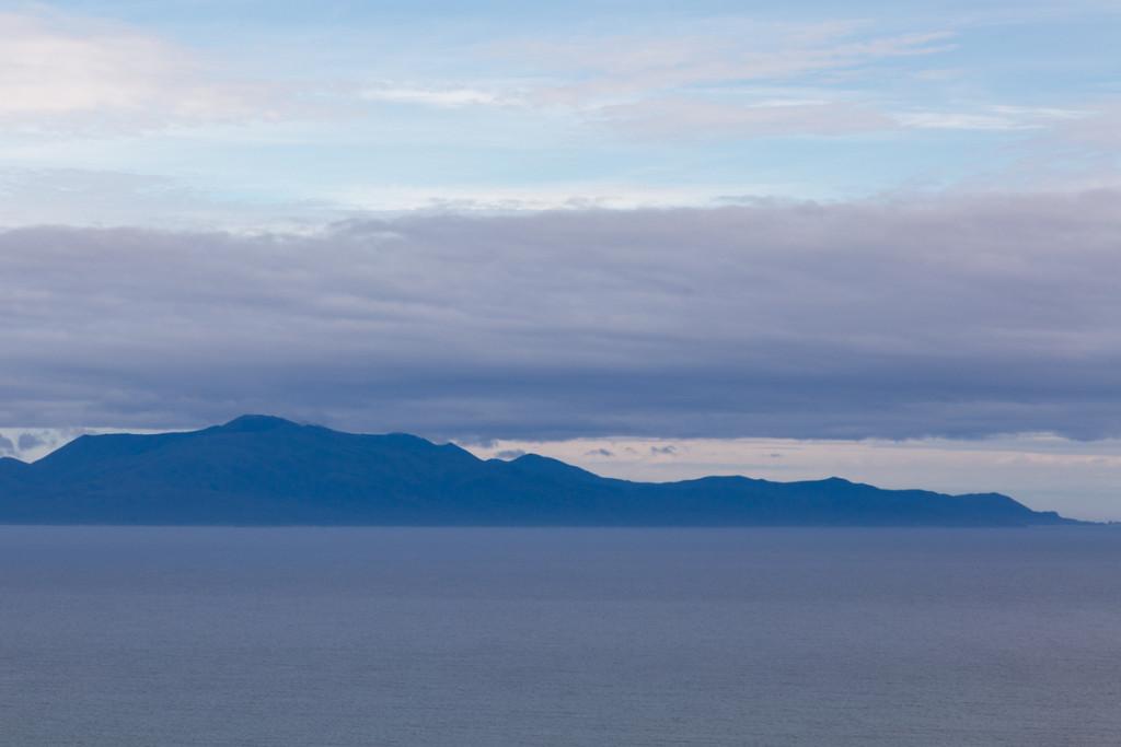 Stewart Island von Bluff aus gesehen