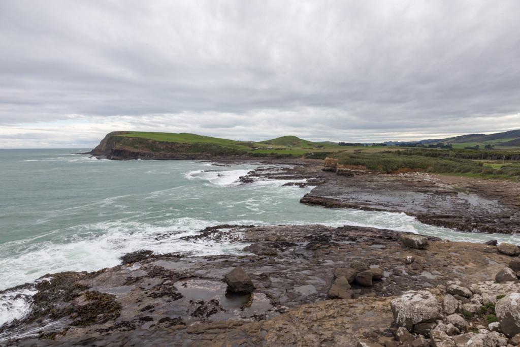 Küstenstreifen in der Curio Bay / Catlins