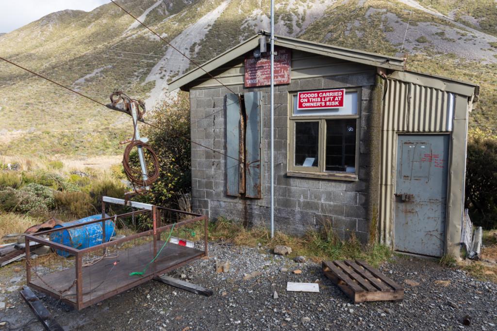 Materialseilbahn zum Skigebiet am Arthur's Pass